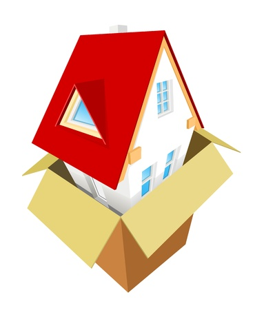 Nouvelle maison de la boîte Illustration