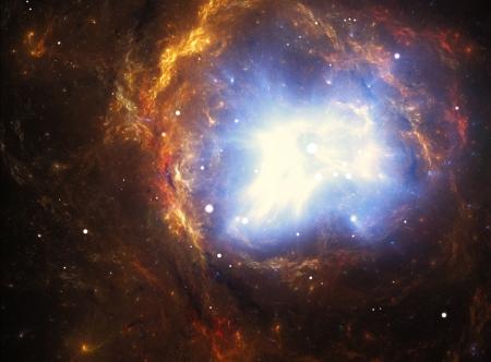 Nébuleuse colorée créée par l'explosion d'une supernova