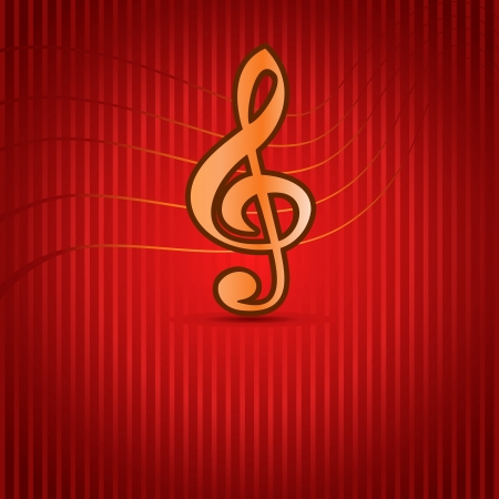 notation: Red Music background with Treble Clef