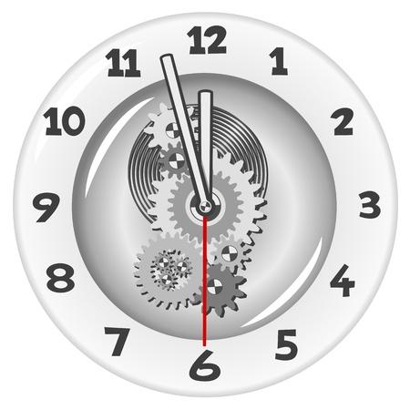 White clock. Five minutes to twelve Stock Vector - 16757102