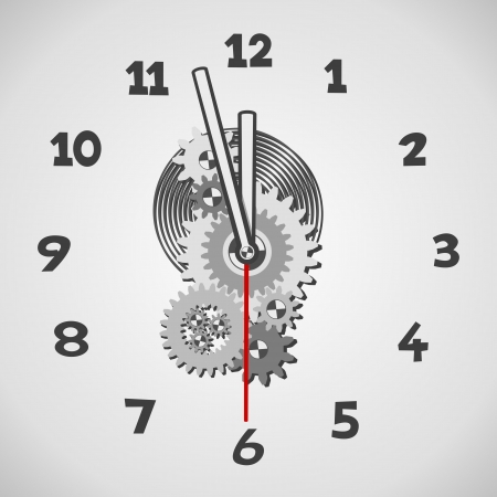 White clock. Five minutes to twelve Stock Vector - 16757105