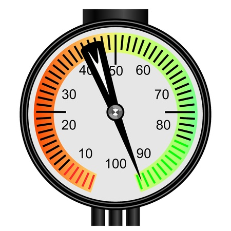 pressure gauge: Vector gas manometer on a white background