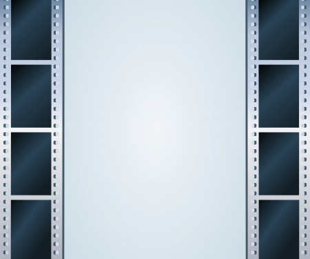 Blank photo - video template, illustration Vector
