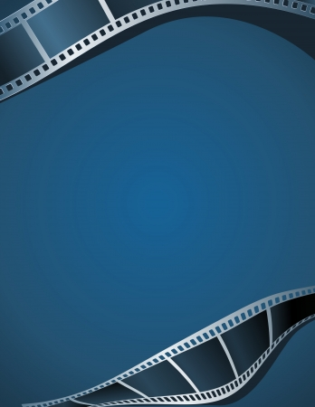 Blank photo - video template, illustration Ilustração