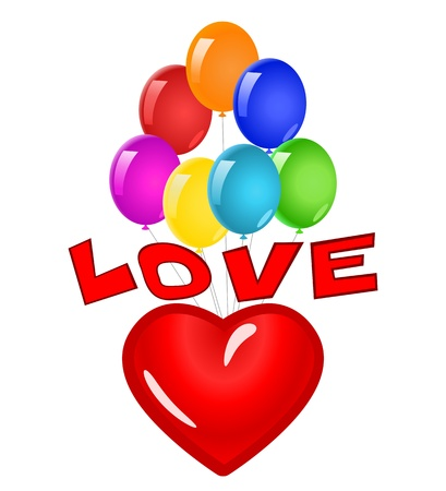 Love heart. Illustration Stock Vector - 16828339