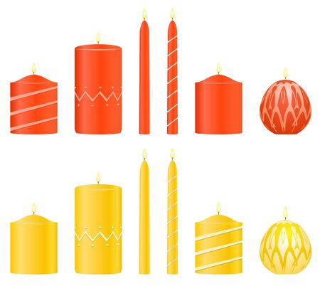 Vector set candles Stock Vector - 16877988