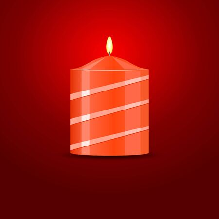 Vector Candle on red background Stock Vector - 16877986