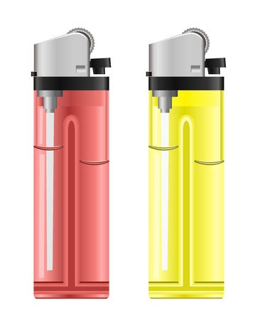 encendedores: Encendedores de colores. Ilustración vectorial Vectores
