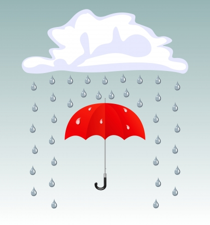 Vector umbrellas and rain drops Stock Vector - 16877985