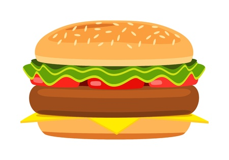 Cartoon hamburger Stock Vector - 17111622