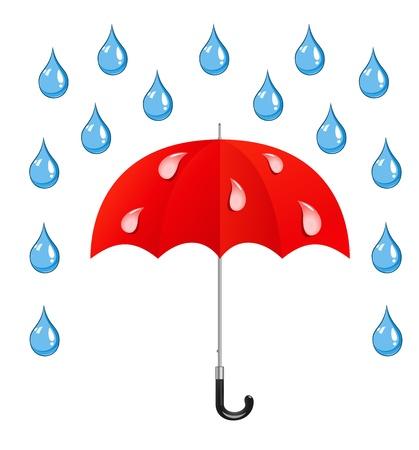 umbrella and rain drops Stock Vector - 17111607