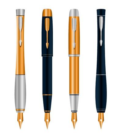 set abstract pens Stock Vector - 17249124