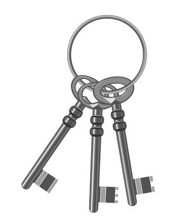 old key: A bunch of old keys  Vector Illustration