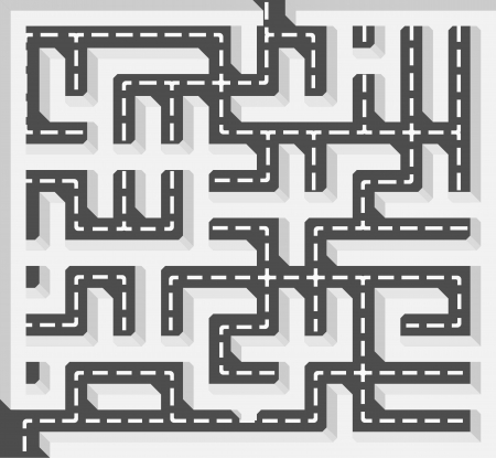 Road labyrinth Stock Vector - 17282178
