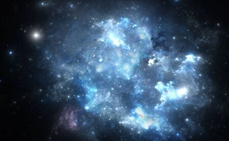 Blue space nebula Stock Photo - 17581059