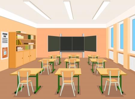 aula: Ilustraci�n vectorial de un aula vac�a Vectores