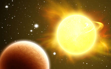 extreme heat: The death of a star Stock Photo