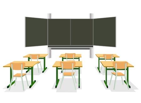 illustratie van een leeg klaslokaal