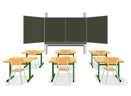 class room: illustration of an empty classroom