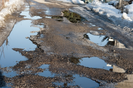 Potholes problematic on local roads photo
