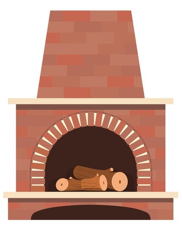 woodpile: house fireplace vector