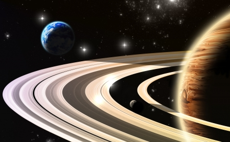 Exoplanets. World outside of our solar system(All art elements made by me)  Stock Photo - 19484081