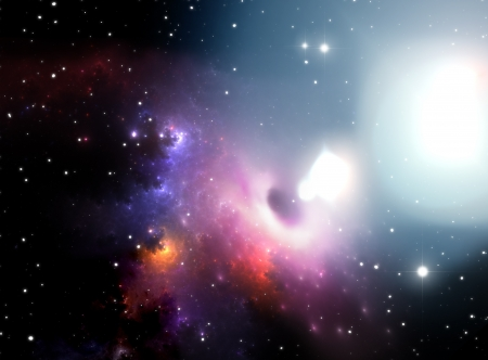 Black hole in the nebula Stock Photo - 19666008
