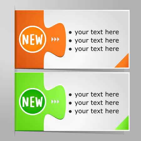 Colorful options banner template.  illustration Vector