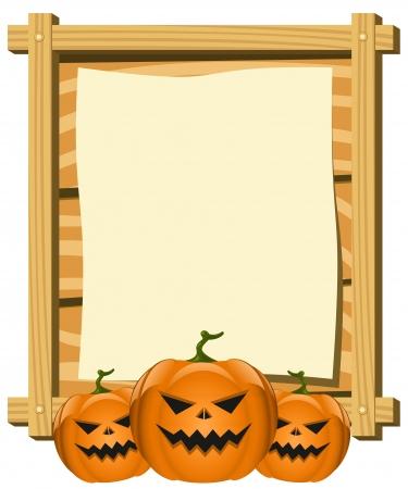 blank board in Halloween theme Vector