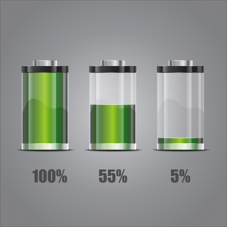 Battery illustration. Concept-battery life. Vector