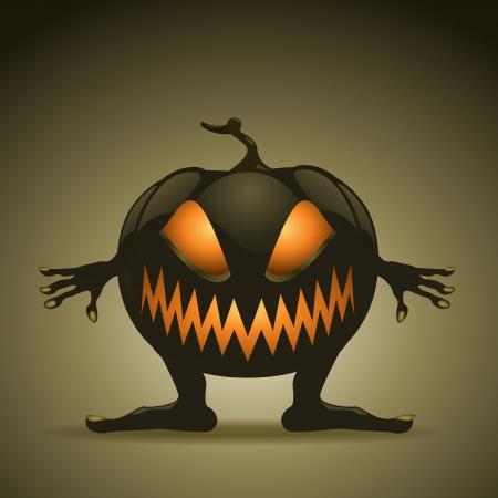 Halloween background with pumpkins.  Vector