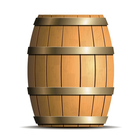 tanks: Wooden barrel vector Illustration