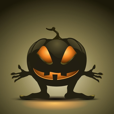 Halloween background with pumpkins. EPS10 Vector