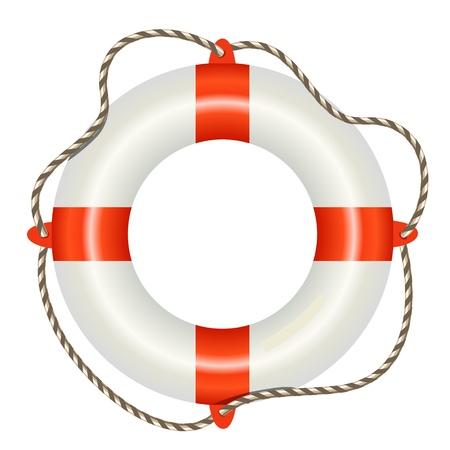 life preserver: Lifesaver buoy isolated on white background Illustration