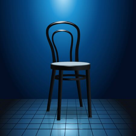 vacant: Vacant chair on stage Illustration