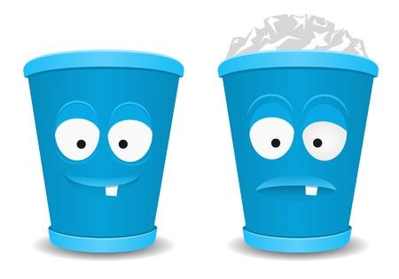 rubbish bin: Fun recycle bins