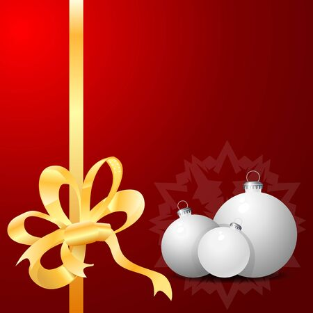 Red Background with Christmas balls. Eps10  Vector