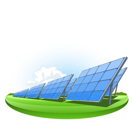 Los paneles solares, ilustraci?n vectorial