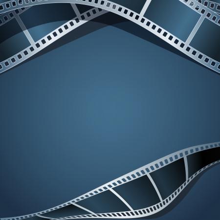 cinema old: Blank foto - modello video, illustrazione Vettoriali