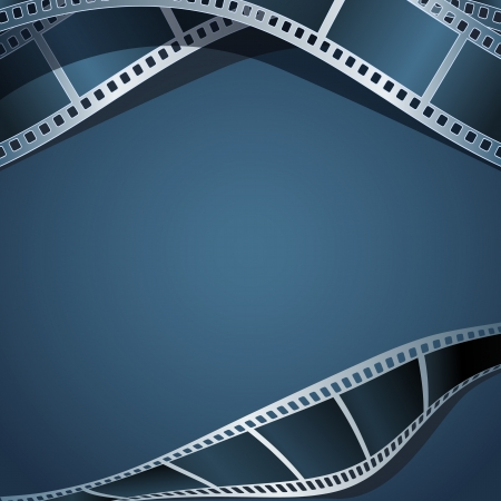 cinema scherm: Blank foto - video template, illustratie Stock Illustratie