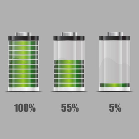 Battery illustration. Concept-battery life Vector