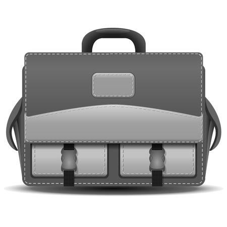 bookbag: School bag on white background Illustration