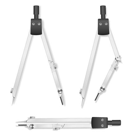 drafting tools: Vector compasses Illustration