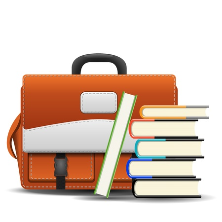 bookbag: School bag with books
