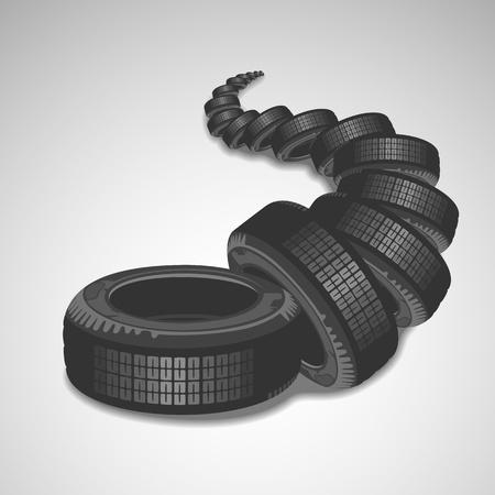 Vector Tires Stock Vector - 21725230