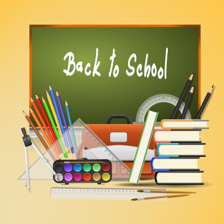 Back to school background. Vector Illustration - EPS 10 Vector