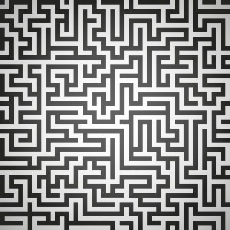 escape route: Vector illustration of maze, labyrinth