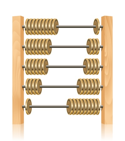 Financial abacus Vector