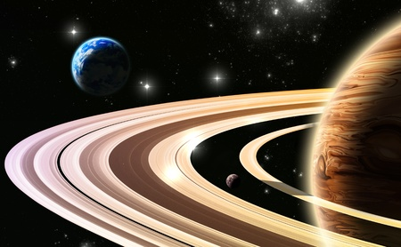 natural phenomenon: Exoplanets. World outside of our solar system  Stock Photo