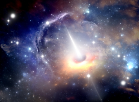 astronomic: Black hole in the nebula